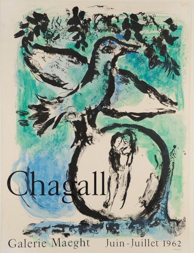 Original Galerie Maeght Marc Chagall Lithograph 1962