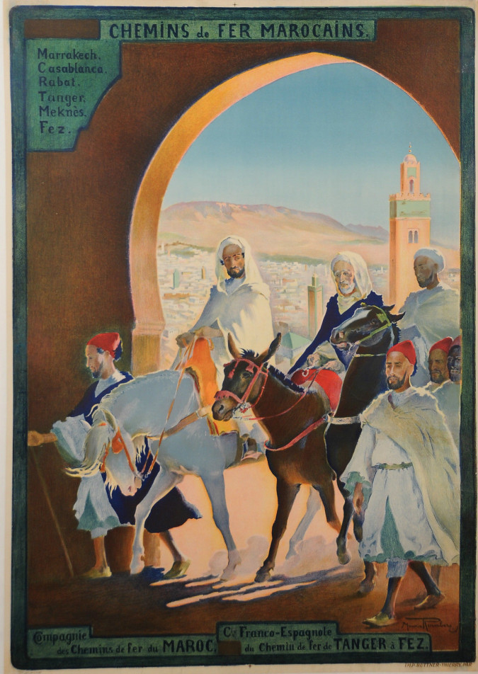Original Vintage Orientalist French Moroccan Travel Poster by Romberg ca 1920