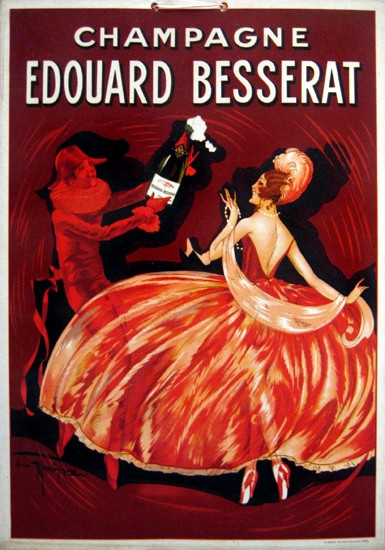 Original Edouard Besserat Champagne (Carton)  c.1920.