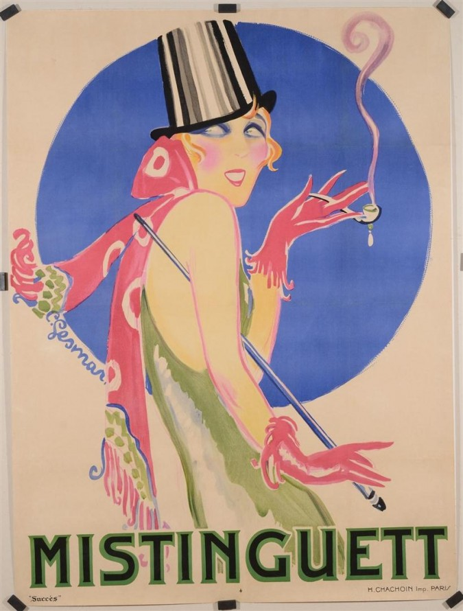 "Extremely Rare Poster By Gesmar ""Mistinguett"""