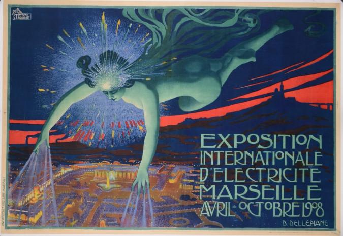 "Reprint Vintage Poster ""Exposition Internationale""   by David Dellepiane"