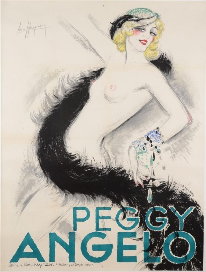 Original Vintage Poster Advertising Peggy Angelo