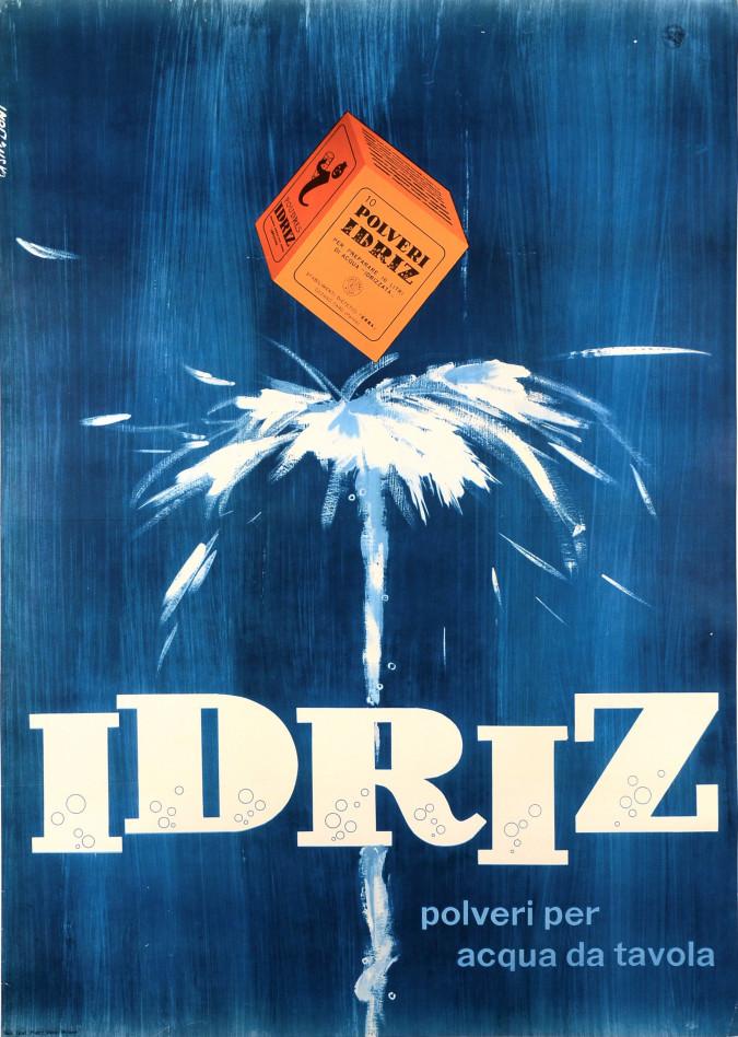 "Original Vintage Italian Poster ""Idriz powder"" ca. 1950"