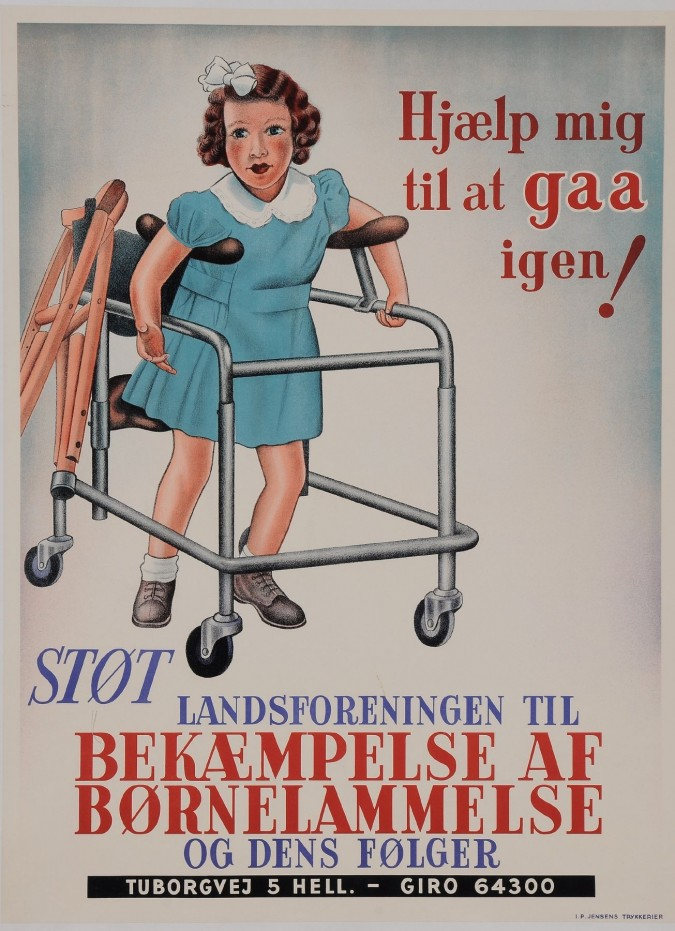 Original Vintage Dutch Poster for Help the Children