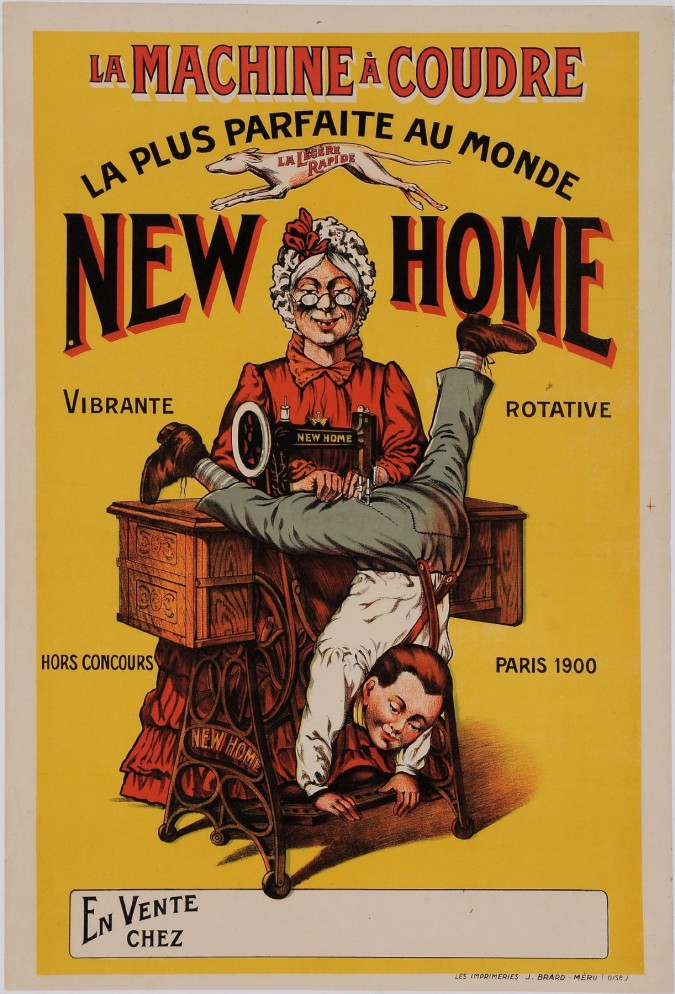 Original Vintage French Poster for NEW HOME Swing Machine