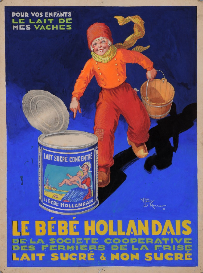 "Original  Advertising Poster Maquette for ""Le Bebe Hollandais"" ,Original."