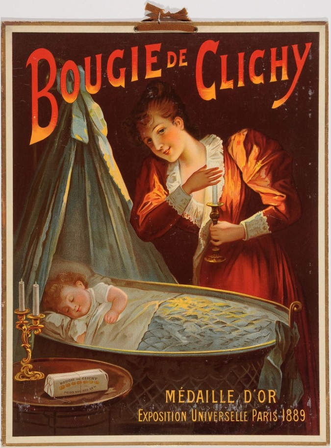 """Original Vintage French Poster for """"Bougie de Clichy"""""""