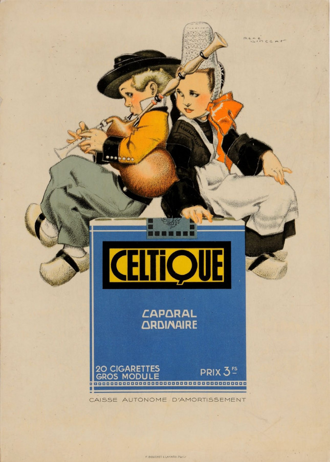"Original Vintage French Poster for ""Celtique"" by Rene Vincent"