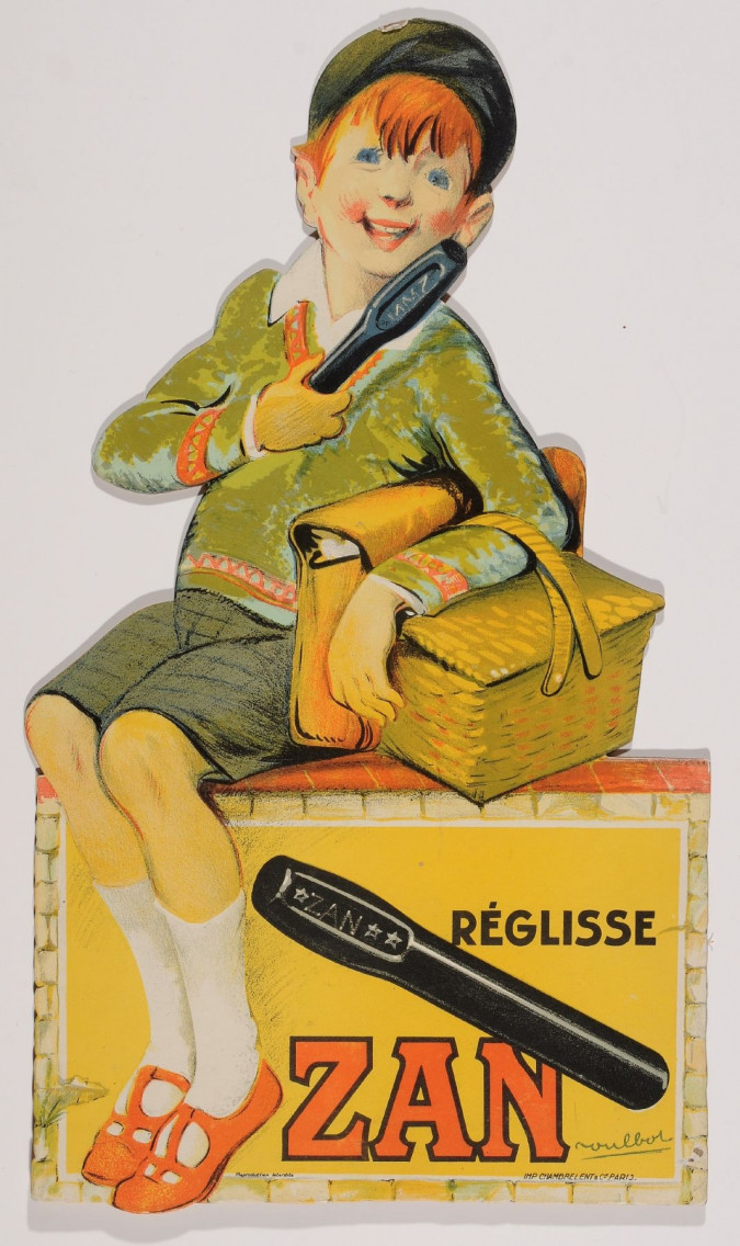 """Original Vintage French Cut Out Poster for """"Zan Pastillages Parfumes""""-Boy"""