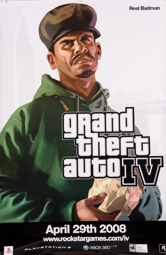 """Original Vintage American Poster for """"Grand Theft Auto 4"""""""
