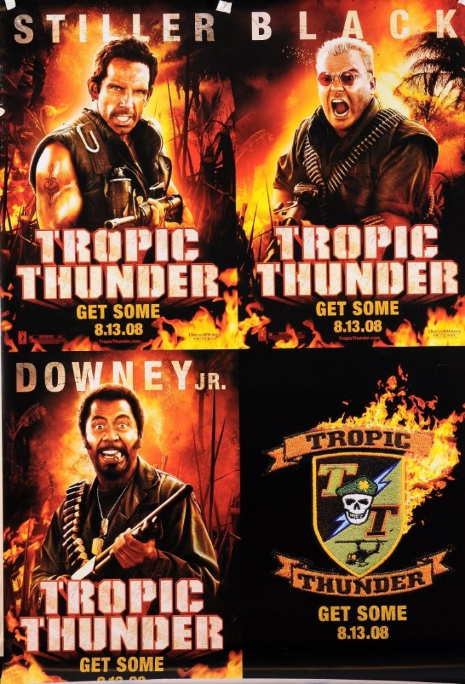 """Original Vintage French Movie Poster for """"Tropic Thunder"""""""