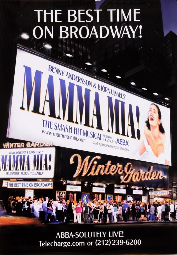 """French Vintage French Poster To Advertise The Musical on Broadway """"Mamma Mia"""""""