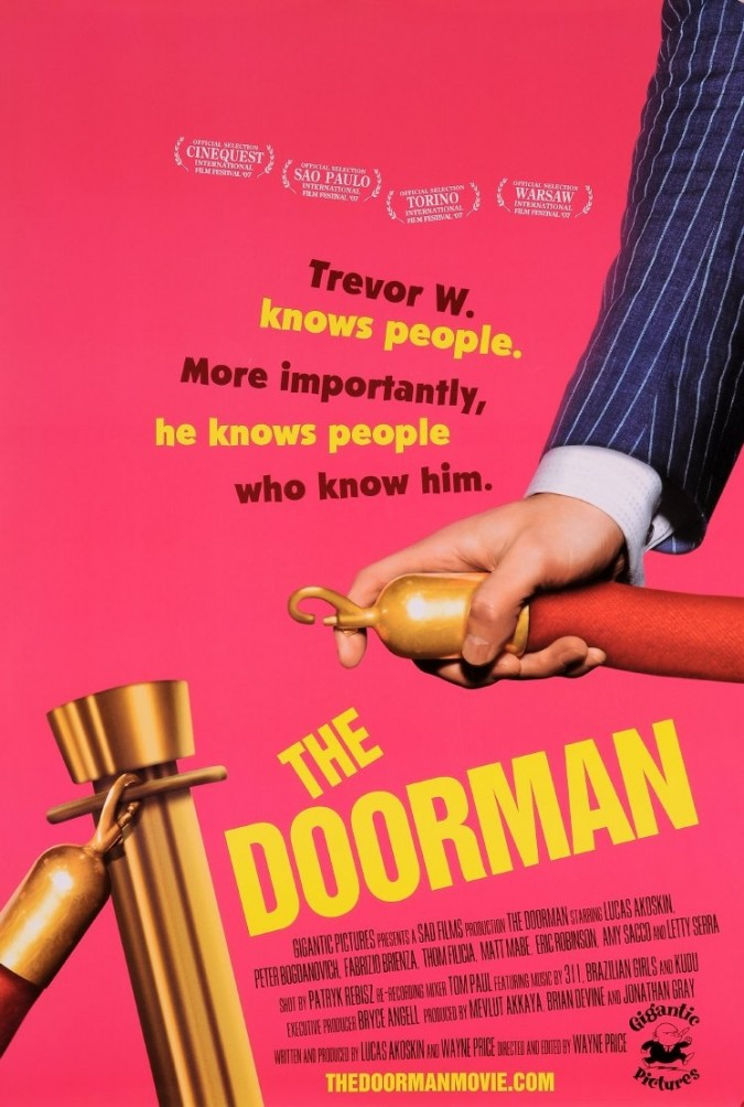 """Original Vintage French Movie Poster for """"The Doorman"""""""