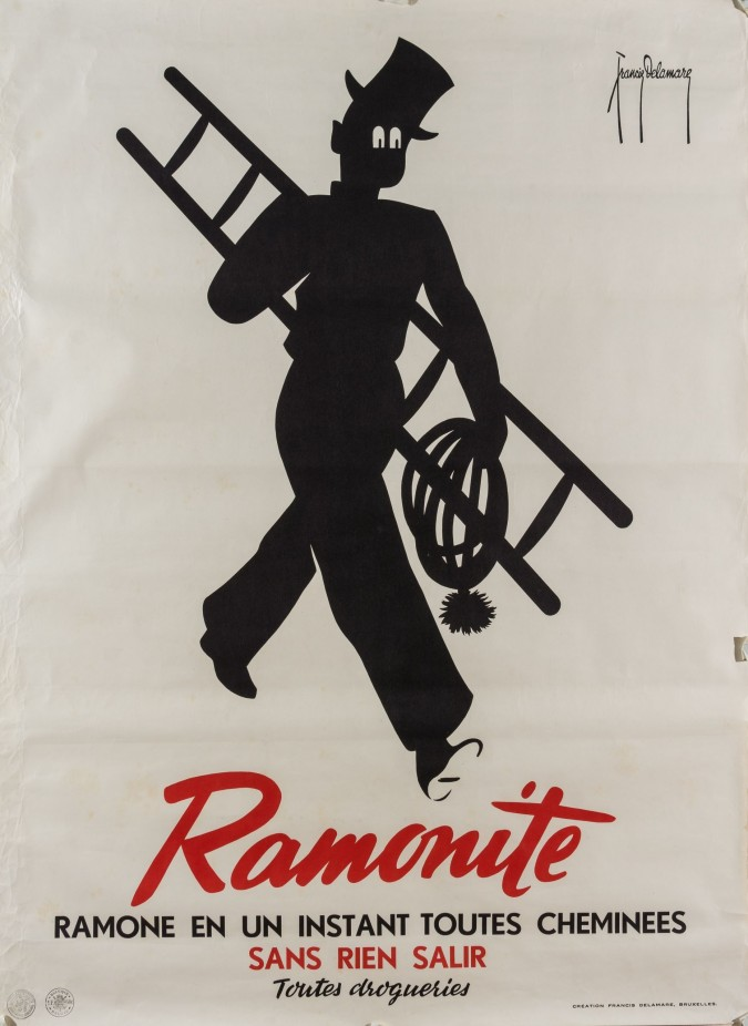 "Original Vintage  BELGIUM Poster Advertsing ""Ramonite by Delamare 1930's"