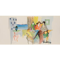 """Original Signed Lithograph from the book """"Works on Paper"""" Itzchak Tarkay 1993"""