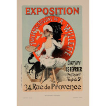 """Original Vintage French Lithograph """"Les Affiches Illustrees"""" by Cheret 1888"""