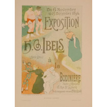 """Original Vintage French Lithograph """"Les Affiches Illustrees"""" by H.S.Ibels 1890's"""