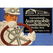 "Original Vintage German Poster Advertising The ""Berlin Auto Show"" 1911"