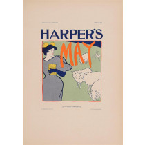 """Les Affiches Etrangeres """"Haper's - May"""" Stone Lithograph by E. Penfield 1898"""