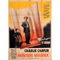 "Original Charlie Chaplin Movie Poster ""Monsieur Verdoux"" by V. Cristellys 1947"