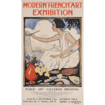 """Original Vintage French Poster """"Modern-French-Art Exhibition"""" by Grun 1923"""