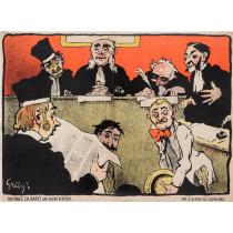 """Original Vintage French Poster """"Tournees Baret - After 1896 - Un Client Serieux"""" by Grun"""