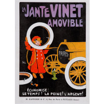 "Original Vintage French Poster ""La Jante Vinet Amovible"" by Grun 1905"