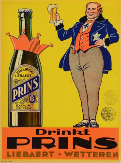 Belgian Beer Alcohol Ad Poster