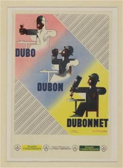 Original Vintage French Advertising Poster DUBON DUBONNET Quinquina - CASSANDRE