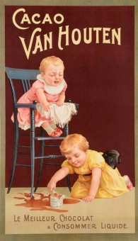 French Chocolate Advertising Poster for
