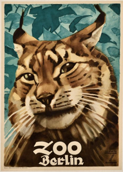 Original Vintage German Advertising Poster for Zoo by Ludwig Hohlwein 1906