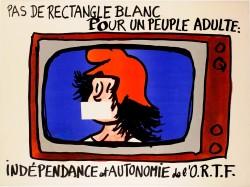 """Vintage French Student Revolution """"Indépendance en autonomie d´O.R.T.F"""" 1968"""