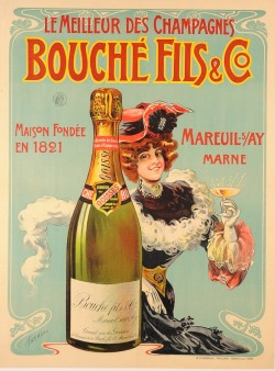Original Vintage French Alcohol Advertising Poster