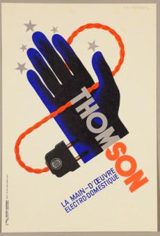 """Original Poster by Cassandre """"Thompson La Main–D´oeuvre Electrodomestique"""""""