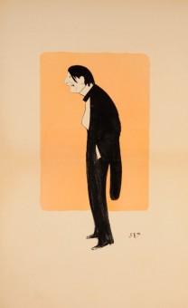 Original Vintage Color Lithograph – Caricature of Paris Bourgeois SEM. c. 1910