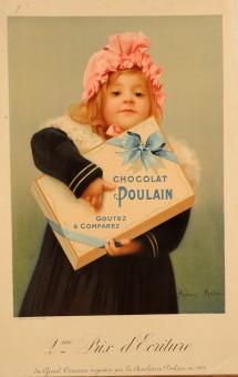 Original Vintage Chocolat Poulain Poster using the Slogan