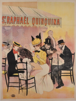 Original French Vintage Poster Advertising St. Raphael Quinquina ca. 1920
