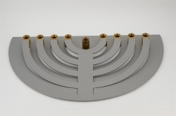 Contemporary Aluminum Hanukkah Lamp Menorah Judaica  No HM-!  by YAAKOV Greenvurcel
