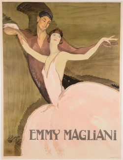 Limited Edition-REPRINT French Lithograph EMMY MAGLIANI (OL)