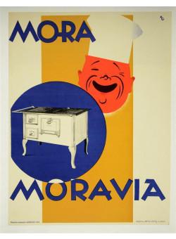 Original 1950's Czech Advertising Poster MORAVIA ovans
