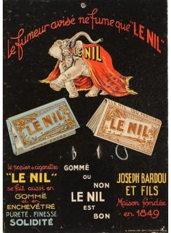 "Original Vintage Cardboard Advertising Poster ""Le Nil"" by Cappiello"