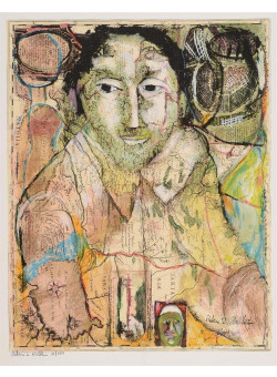 """Peter Zvi Malkin Self Portrait """"THE MAN WHO CAPTURED EICHMANN""""  A Signed Original Lithograph Limited Edition of 150"""