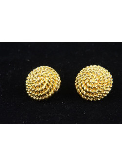 Vintage Costume Gold-tone Jewellery Earrings by MONET