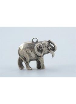 Small Elephant Figurine Lucky Charm Amulet Pendant