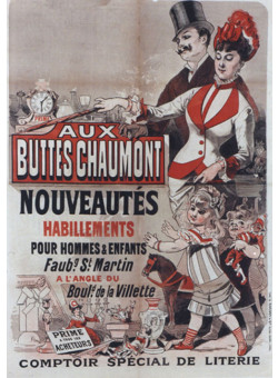 """Original Vintage French Poster """"Buttes Chaumont"""" by Cheret  SOLD AS IS"""