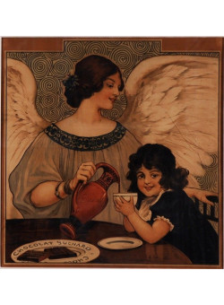"Original Vintage Advertising Poster for Chocolate ""Suchard"" ca.1900"