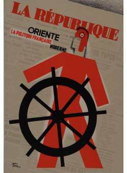 "Original Vintage Newspaper ""La Republique"" Art deco by Jean Carlu"