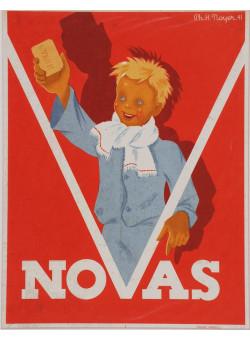 "Art Deco French Advertising Poster for Soap ""NOVAS"""