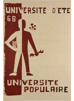 """French Student Revolution Poster """"Pouvoir Populaire"""""""