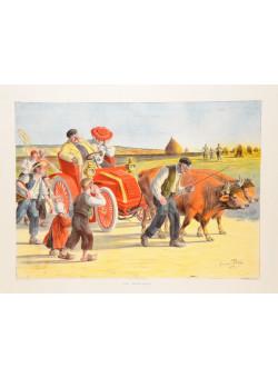 "Vintage Poster ""Une Remorque"" 1904 after George Redon"